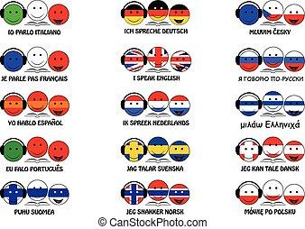 I speak foreign language