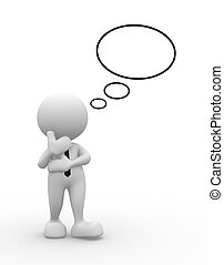 I think - 3d people - man, person with blank bubbles. I...