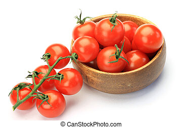 mini-tomato - I took mini-tomatoes in a white background.
