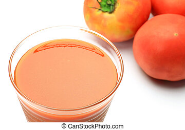 tomato juice - I took tomato juice and tomato in a white...
