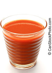 tomato juice - I took tomato juice  in a white background.