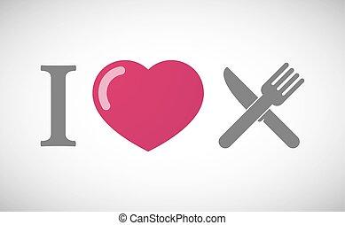 """""""i, vork, hiëroglief, mes, love"""""""