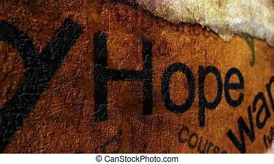I want hope concept