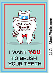 I want you brush teeth