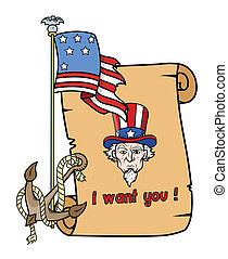 I want you - uncle sam - Vector