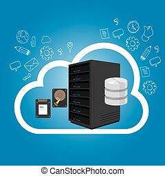 iaas, infraestructura, como, un, servicio, en, el, nube, internet, hosting, servidor, almacenamiento