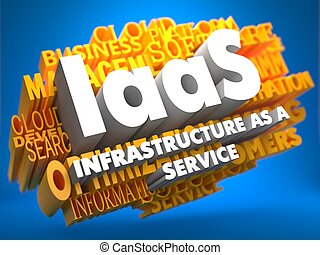 iaas., wordcloud, concept.