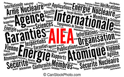 IAEA word cloud concept in french language