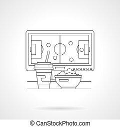 iagttag, soccer, detaljeret, beklæde, vektor, illustration