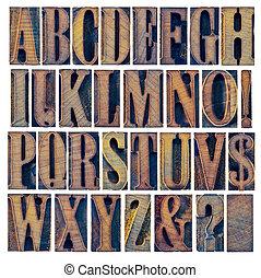 iand, アルファベット, 句読点, タイプ, 木