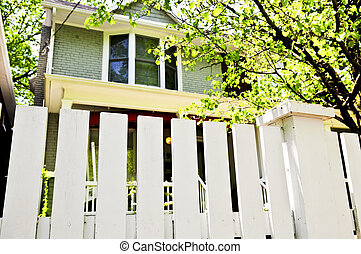 iarda anteriore, con, recinto bianco