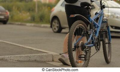 iarda, donna, equitazione bicicletta