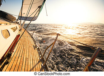 iate, velejando, regatta.