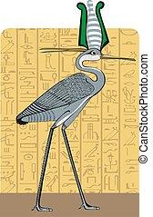 Ibis on Egypt background