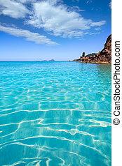 ibiza, aigues, blanques, aguas, blancas, praia, em, santa,...