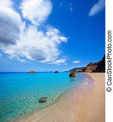 Ibiza Aigues Blanques Aguas Blancas Beach at Santa Eulalia