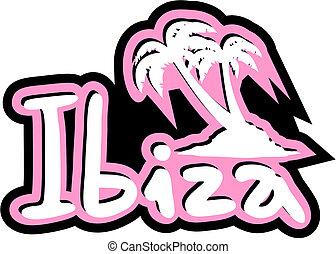 Ibiza beach - Creative design of ibiza beach