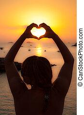 Ibiza Beautiful sunset in Cala Conta, Ibiza,near San Antonio