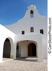 ibiza, bianco, chiesa