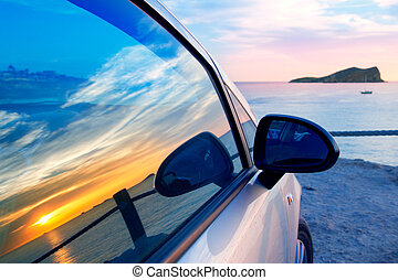 Ibiza cala Conta Conmte in window car glass - Ibiza cala...