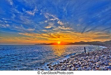 Ibiza Cap des Falco beach sunset Es Vedra in San Jose - ...