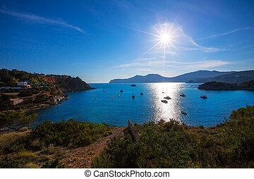 Ibiza Es Porroig also Port Roig view at Balearic Islands of Spain