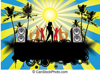 ibiza, feestje, flyer, strand