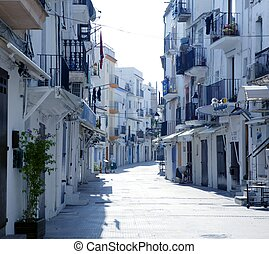 Ibiza from balearic islands in Spain. Mediterranean...