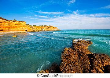 Ibiza island Platja Es bol Nou beach Ses Salines in Sant...