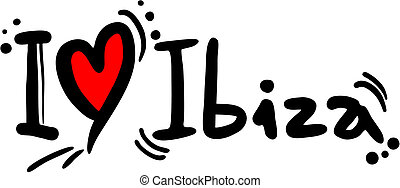 Ibiza love - Creative design of ibiza love