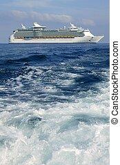 ibiza, méditerranéen, levers de soleil, île, croisière