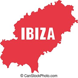 Ibiza map with name