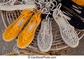 Ibiza mediterranean traditional handwoven shoes - Ibiza ...