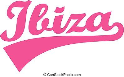 Ibiza retro font