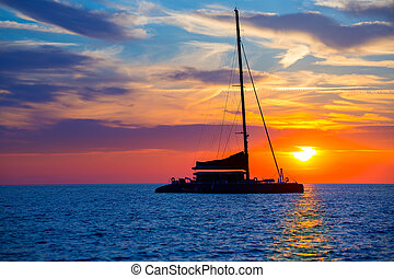 Ibiza san Antonio Abad catamaran sailboat sunset - Ibiza san...
