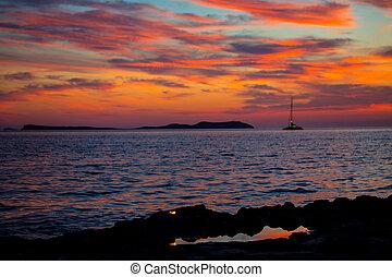 Ibiza san Antonio Abad de Portmany sunset