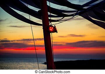 Ibiza san Antonio Abad de Portmany sunset in Balearic...