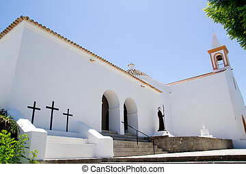 Ibiza Sant Joan Labritja San Juan church white mediterranean architecture
