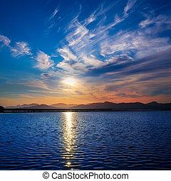 Ibiza ses Salines saltworks at sunset in Sant Josep at...