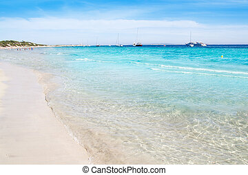 Ibiza Ses Salines south turquoise beach - Ibiza Ses Salines...