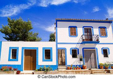 Ibiza white house in Sant Miquel del Balansat Mediterranean Spain