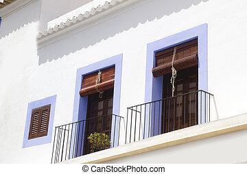 Ibiza white island mediterranean architecture