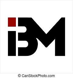 ibm, compañía, bm, carta, logotipo, iniciales