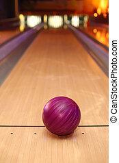 ibolya, gömb, labda, álló, képben látható, hosszú, pipafej...