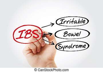 IBS - Irritable Bowel Syndrome acronym, health concept background