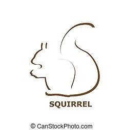 icône, écureuil