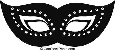 icône, élégant, style, masque, simple