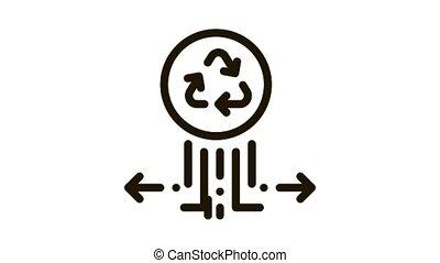 icône, étiquetage, ambiant, popularité, animation