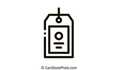 icône, étiquette, animation, étiquette