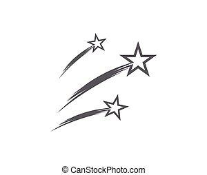 icône, étoile, gabarit